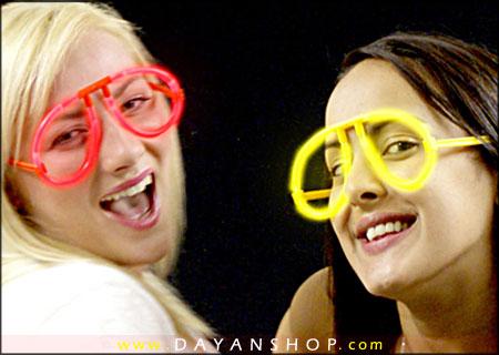 عینک نورانی طرح GLO